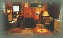 the living room in cabin 5 at the retreat.