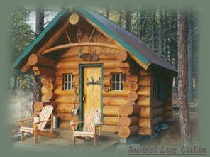 the log cabin at the retreat.