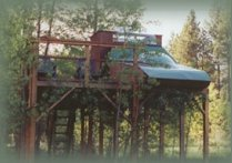the stargazer tree house at the retreat.